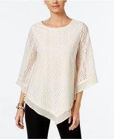 Alfani Lace Poncho Knit Top, Only at Macy's