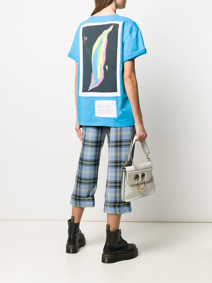 Thumbnail for your product : Charles Jeffrey Loverboy back photo print T-shirt