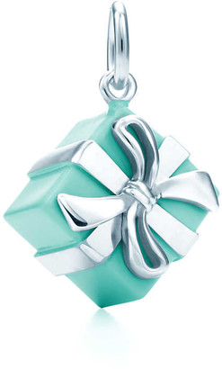 Tiffany & Co. Blue Box charm in sterling silver with Blue enamel finish