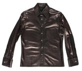 Chrome Hearts Sterling-Accented Leather Shirt