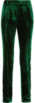 Haider Ackermann Velvet Slim-leg Pants - Emerald