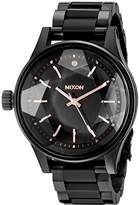 Nixon Women's A409957 Facet 38 Analog Display Japanese Quartz Black Watch