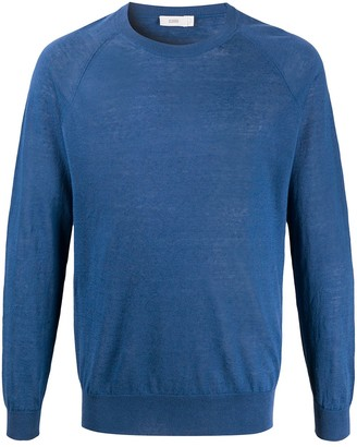Closed Crew Neck Lightweight Pullover
