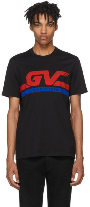 Givenchy Black GV World Tour Jersey T-Shirt