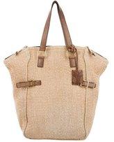 Saint Laurent Straw Downtown Bag