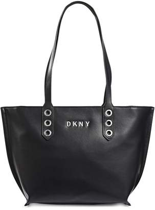 DKNY Leather Top Handle Tote