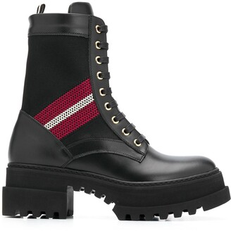Bally Giois leather combat boots