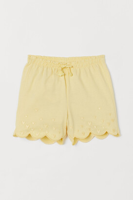 H&M Embroidered Jersey Shorts