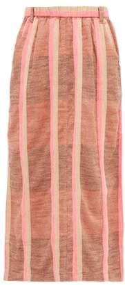 Ace&Jig Sasha Striped Cotton Midi Skirt - Womens - Beige Multi