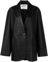 S.W.O.R.D 6.6.44 oversized leather blazer