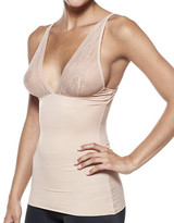Body Beautiful Women's Camisoles Nude - Nude Sheer Lace-Accent Smoothing Camisole - Women & Plus