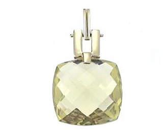 FINE JEWELRY LIMITED QUANTITIES! Womens Genuine Yellow Quartz 14K Gold Pendant Necklace