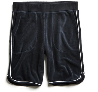 Todd Snyder Piped Terry Basketball Short in Navy