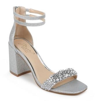Badgley Mischka Natala Embellished Ankle Strap Sandal