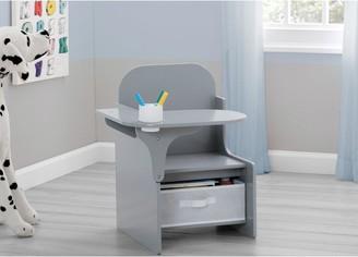 Mysize Desk Chair With Storage - Grey