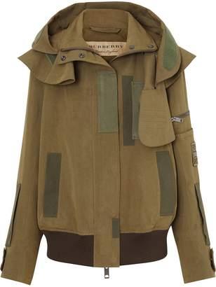 Burberry Detachable Hood Cotton Silk Twill Jacket