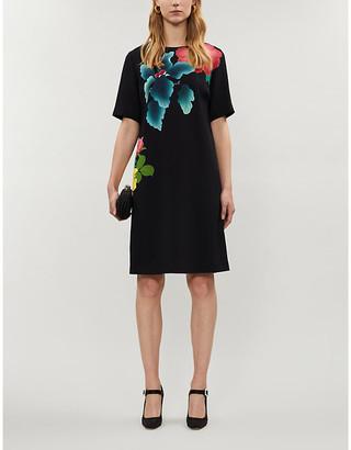 Etro Floral-print crepe mini dress