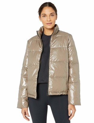 Core 10 High Shine Insulated Puffer Full-zip Jacket Black X-Small (0-2)