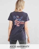 Asos T-Shirt with 90s Americana Print in Wash