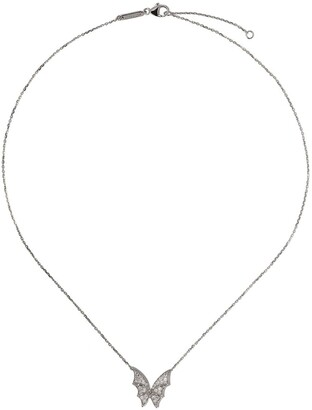 Stephen Webster 18kt white gold Fly By Night diamond pave small necklace