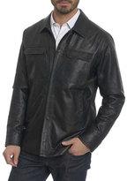 Robert Graham Colden Camo Leather Shirt Jacket
