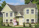 Little Cottage Company Sara's Victorian Mansion DIY Playhouse Kit, 10' x 18'