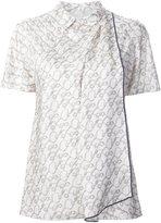 3.1 Phillip Lim printed satin draped top