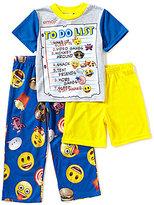 AME Emoji Little/Big Boys 4-10 To Do List 3-Piece Pajama Set