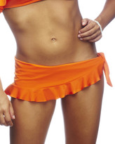 Nicolita Swimwear - Rumba Ruffles Orange Skirt Bikini Bottom