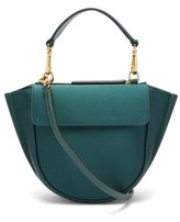 Wandler Hortensia Mini Satin Cross-body Bag - Womens - Dark Green