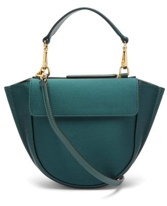 Wandler Hortensia Mini Satin Cross-body Bag - Womens - Dark Green