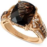 LeVian Le Vian® Chocolatier Smoky Quartz (4-1/2 ct. t.w.) and Diamond (1/2 ct. t.w.) Ring in 14k Rose Gold