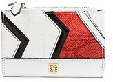 Kate Landry Angled Patchwork Double Zip Bifold Wallet