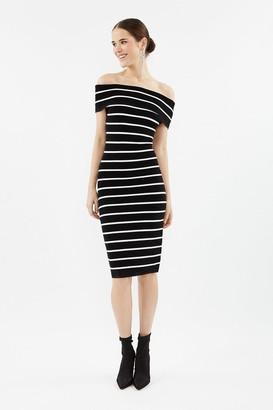 Coast Stripe Knit Bardot Dress
