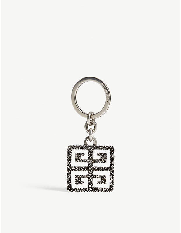 Givenchy Engraved logo keyring