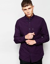 Ben Sherman Shirt With Gingham Check - Purple