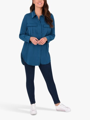 Live Unlimited Curve Military Shirt, Teal