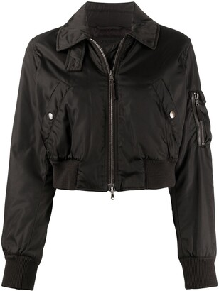 Prada Pre Owned 1990s Cropped Bomber Jacket