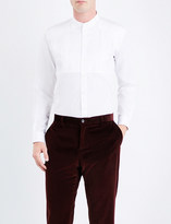 Etro Regular-fit pleated cotton tuxedo shirt