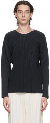 Homme Plissé Issey Miyake Navy Basics Long Sleeve T-Shirt