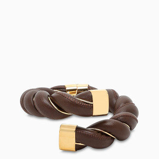 Bottega Veneta Brown twisted bracelet