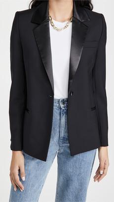 Victoria Victoria Beckham Slim Fit Wool Mohair Tuxedo Jacket
