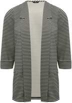 M&Co Petite striped ribbed blazer jacket