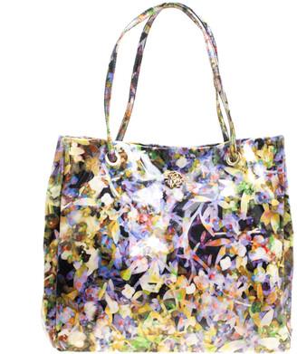 Roberto Cavalli Multicolor Printed PVC Tote