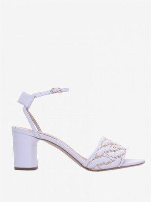 Casadei Leather Sandal With Chain