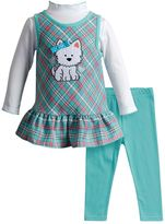 Youngland Baby Girl Dog Jumper, Top & Leggings Set