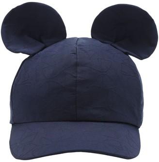 MonnaLisa Canvas Hat W/ Ear Appliques