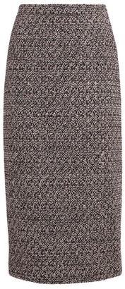 Alessandra Rich Sequin Tweed Midi Skirt