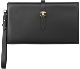 Burberry Large Monogram Motif Leather Folding Wallet