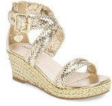 Stuart Weitzman Girl's Akilah Wedge Sandal